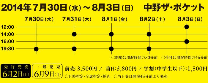 外組「わらいやプロジェクト」 第一弾「狂喜乱舞~わらいや双六編~」2014年7月30日(水)〜8月3日(日) 中野ザ・ポケット